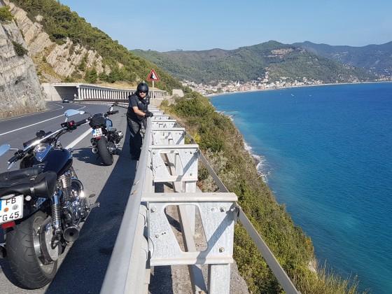 SS1 Küstenstraße bei Albenga